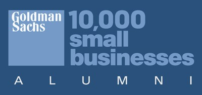 Goldman Sachs 10,000 small business Alumni logo.