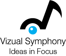 Vizual Symphony Idea in Focus logo.